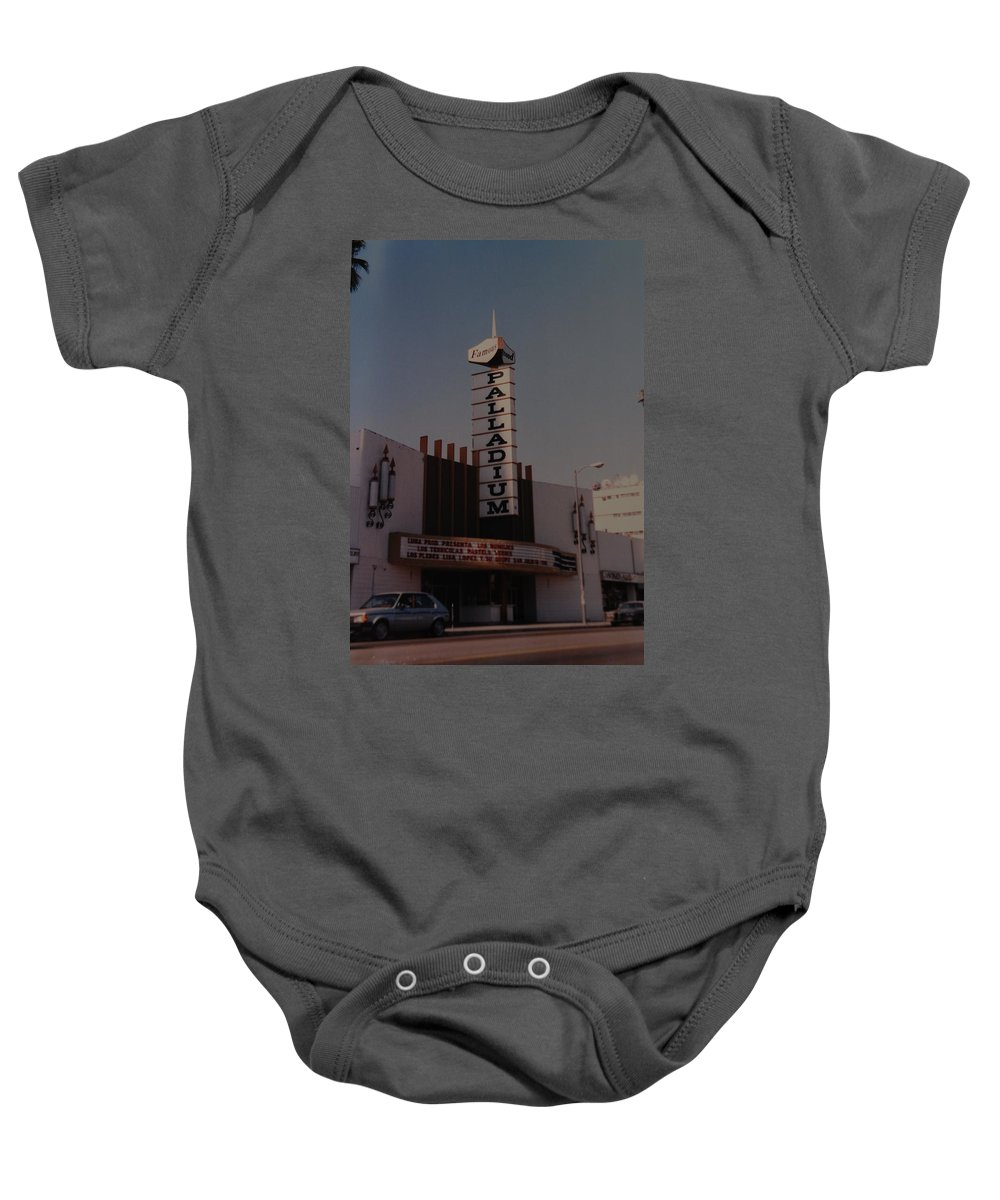 The Palladium Baby Onesie featuring the photograph The Palladium by Rob Hans