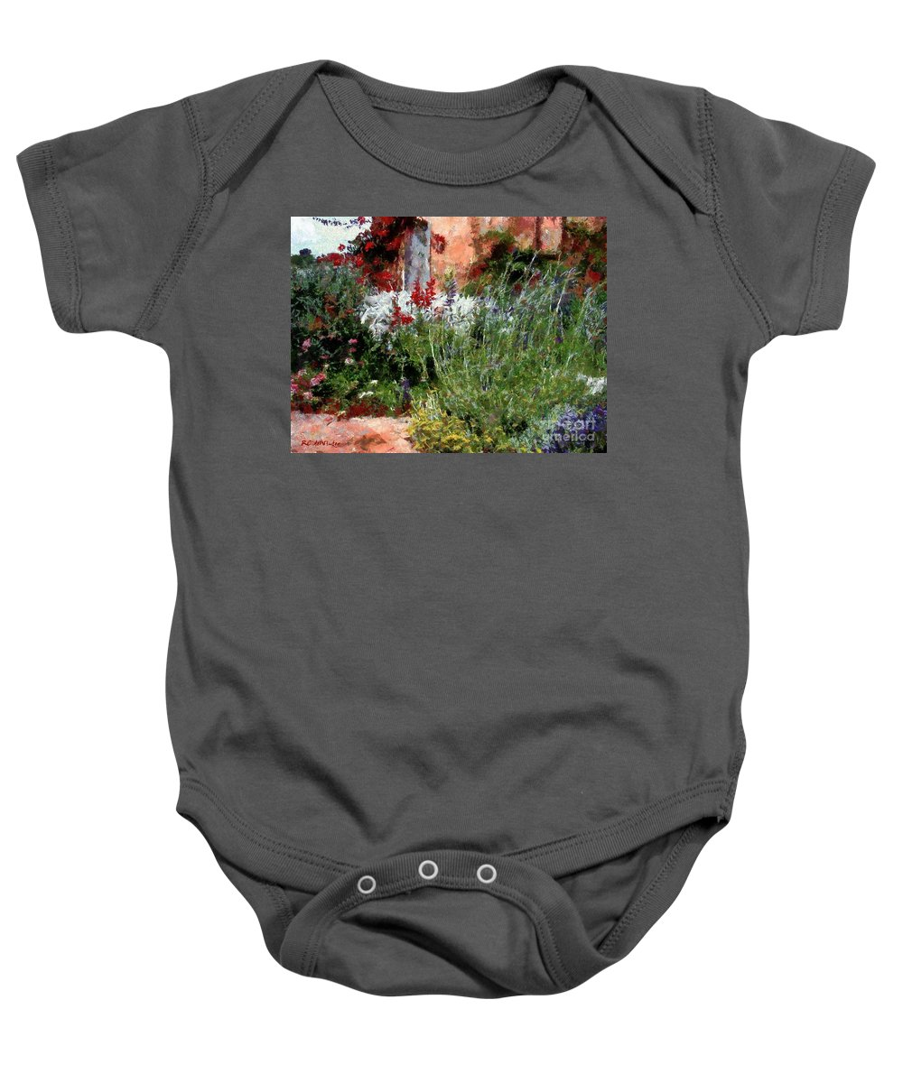 Brick Baby Onesie featuring the painting The Passion Of Summer by RC DeWinter