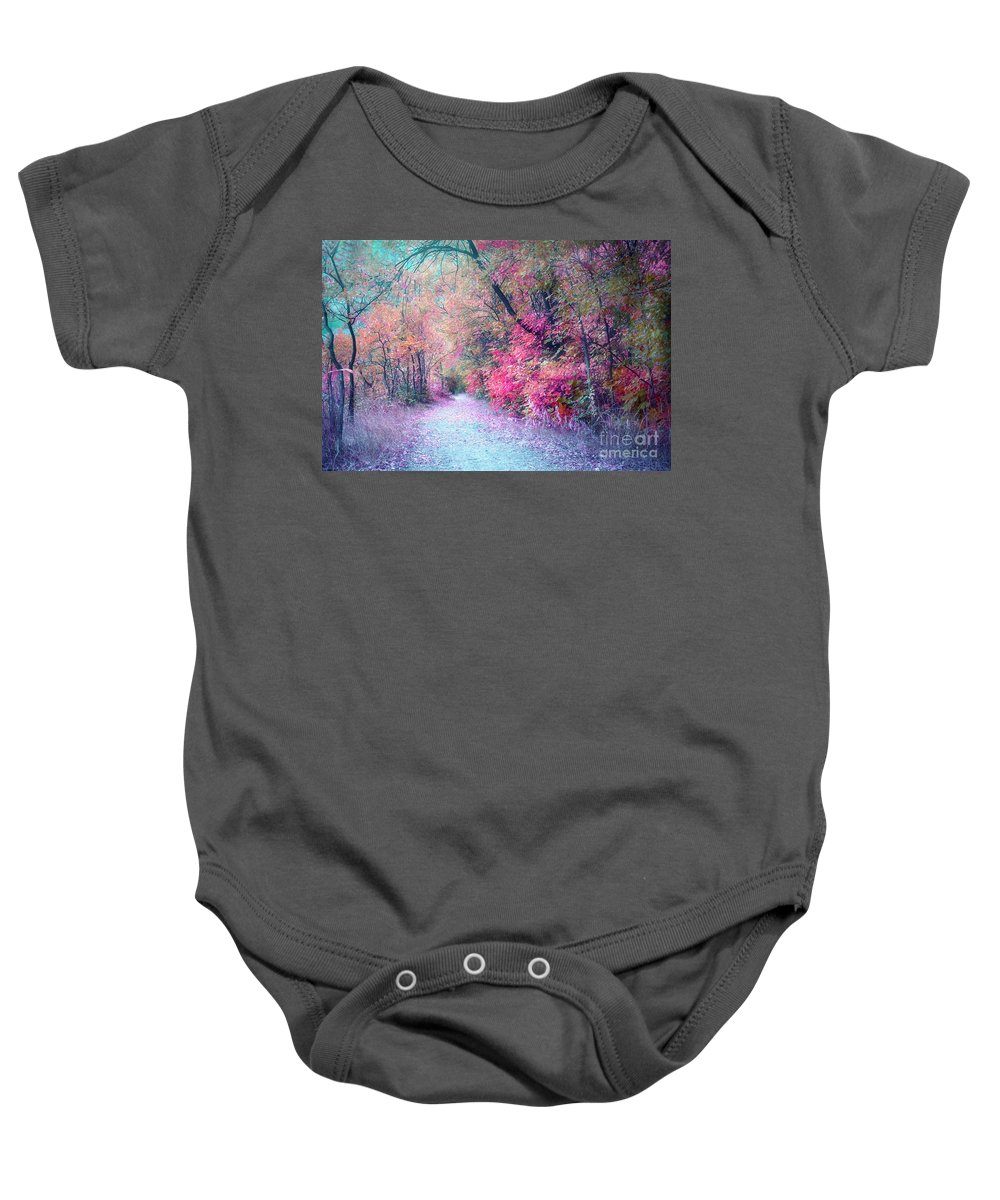 Path Baby Onesie featuring the photograph The Pathway Of Gentle Memories by Tara Turner