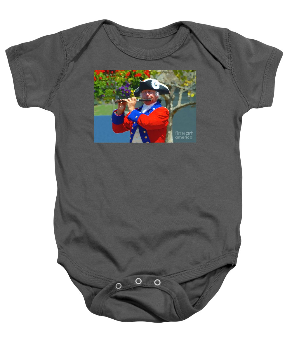 Patriot Baby Onesie featuring the photograph The Patriot by David Lee Thompson