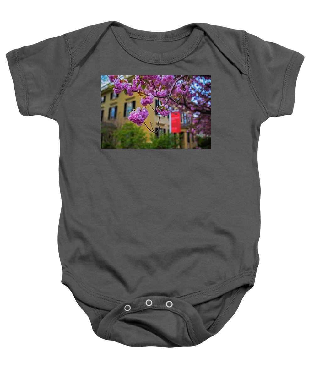 Salem Baby Onesie featuring the photograph The Peabody Essex Museum At Spring Salem Ma by Toby McGuire