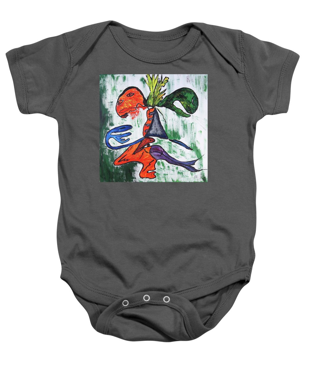 Phantoms Baby Onesie featuring the painting The Phantoms I Called by Erwin Bruegger