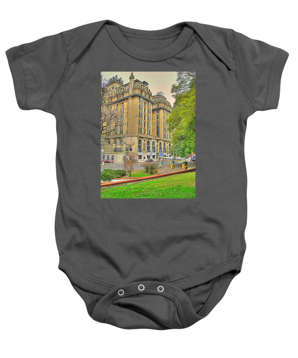 Hotel Baby Onesie featuring the photograph The Plaza by Francisco Colon