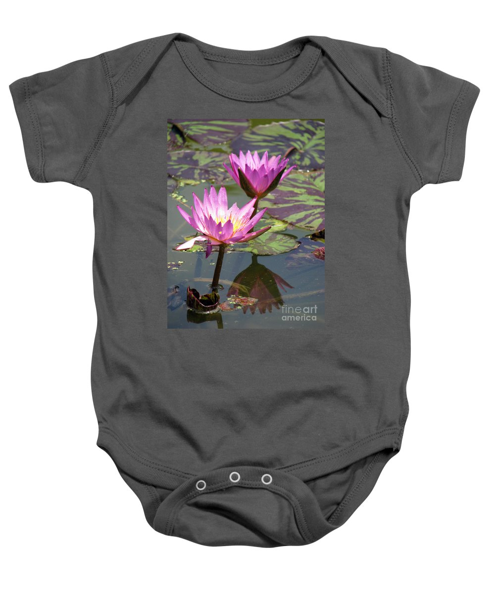 Lillypad Baby Onesie featuring the photograph The pond by Amanda Barcon