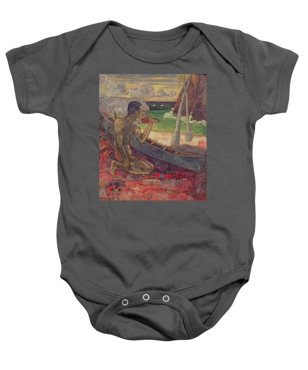 The Poor Fisherman Baby Onesie featuring the painting The Poor Fisherman by Paul Gauguin
