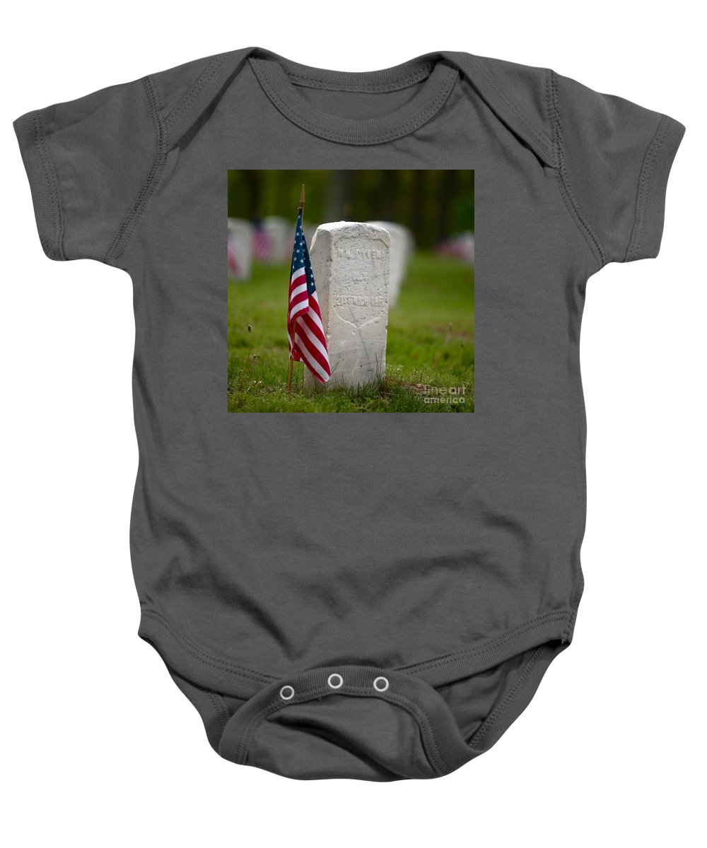 Grave Baby Onesie featuring the photograph The Price Of Freedom by Robert Pearson