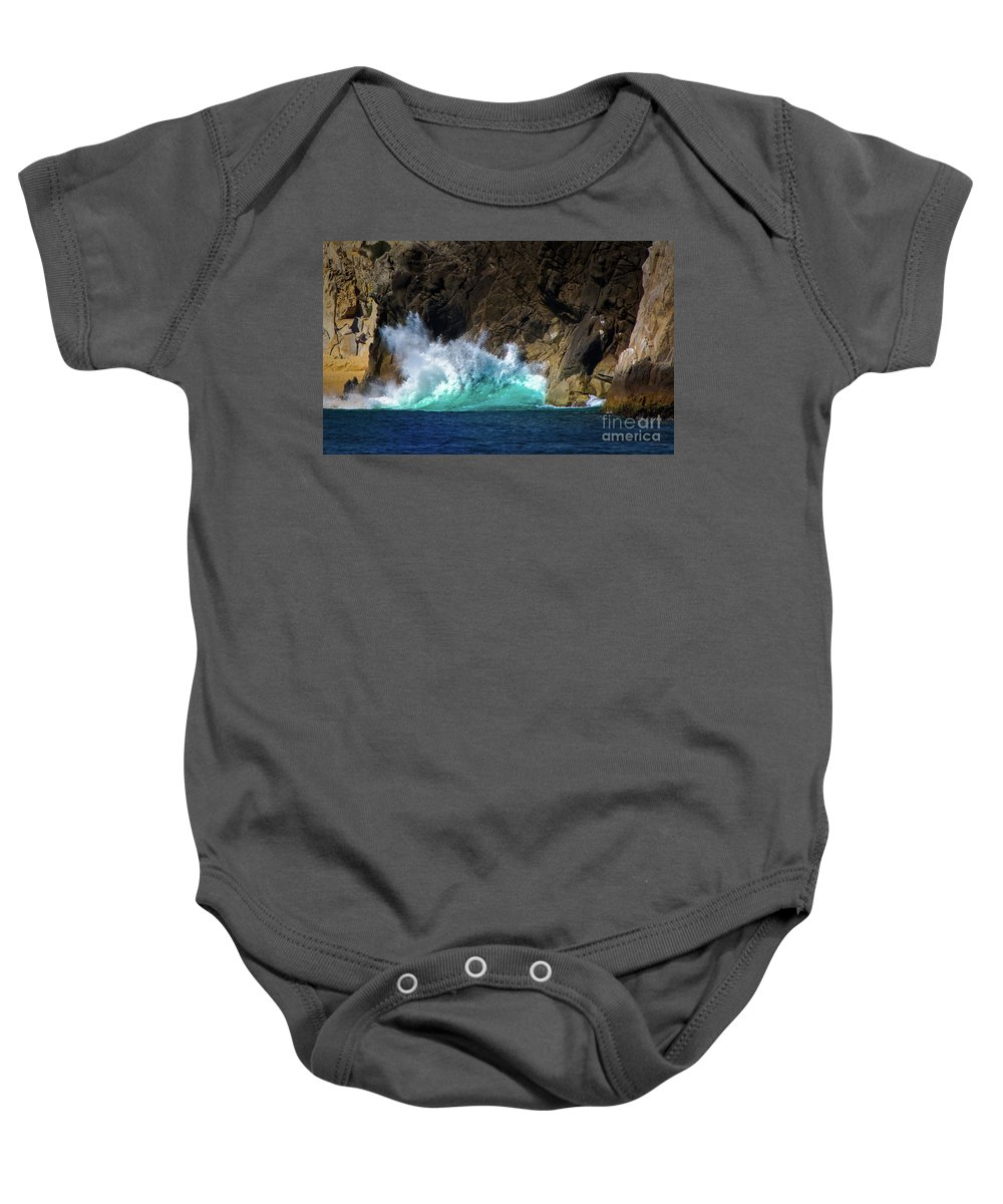 Cabo San Lucas Baby Onesie featuring the photograph The Pulse Of Cabo San Lucas by Doug Sturgess
