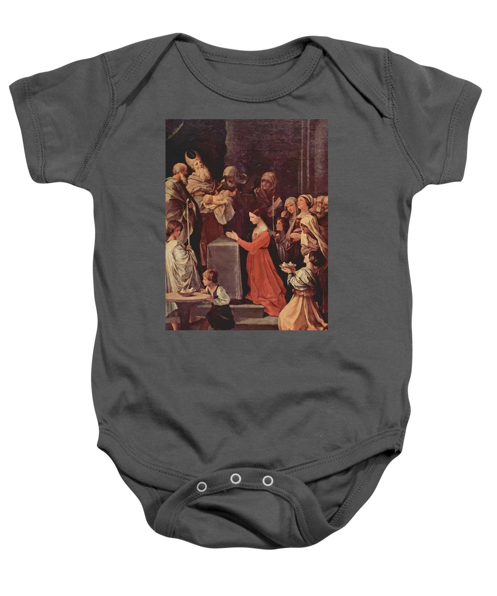 The Baby Onesie featuring the painting The Purification Of The Virgin 1640 by Reni Guido
