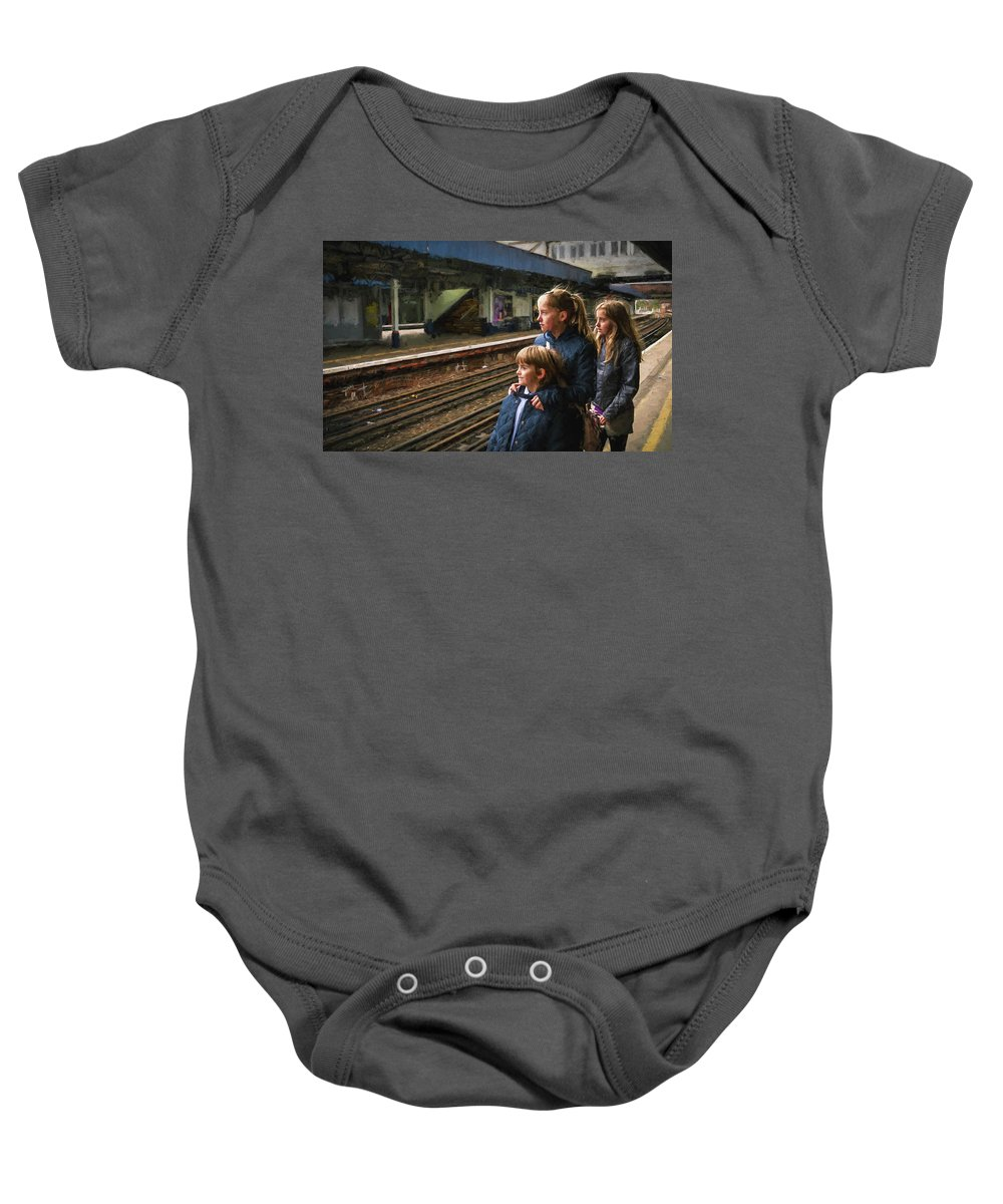 Boy Baby Onesie featuring the photograph The Railway Children by Peter Hayward Photographer