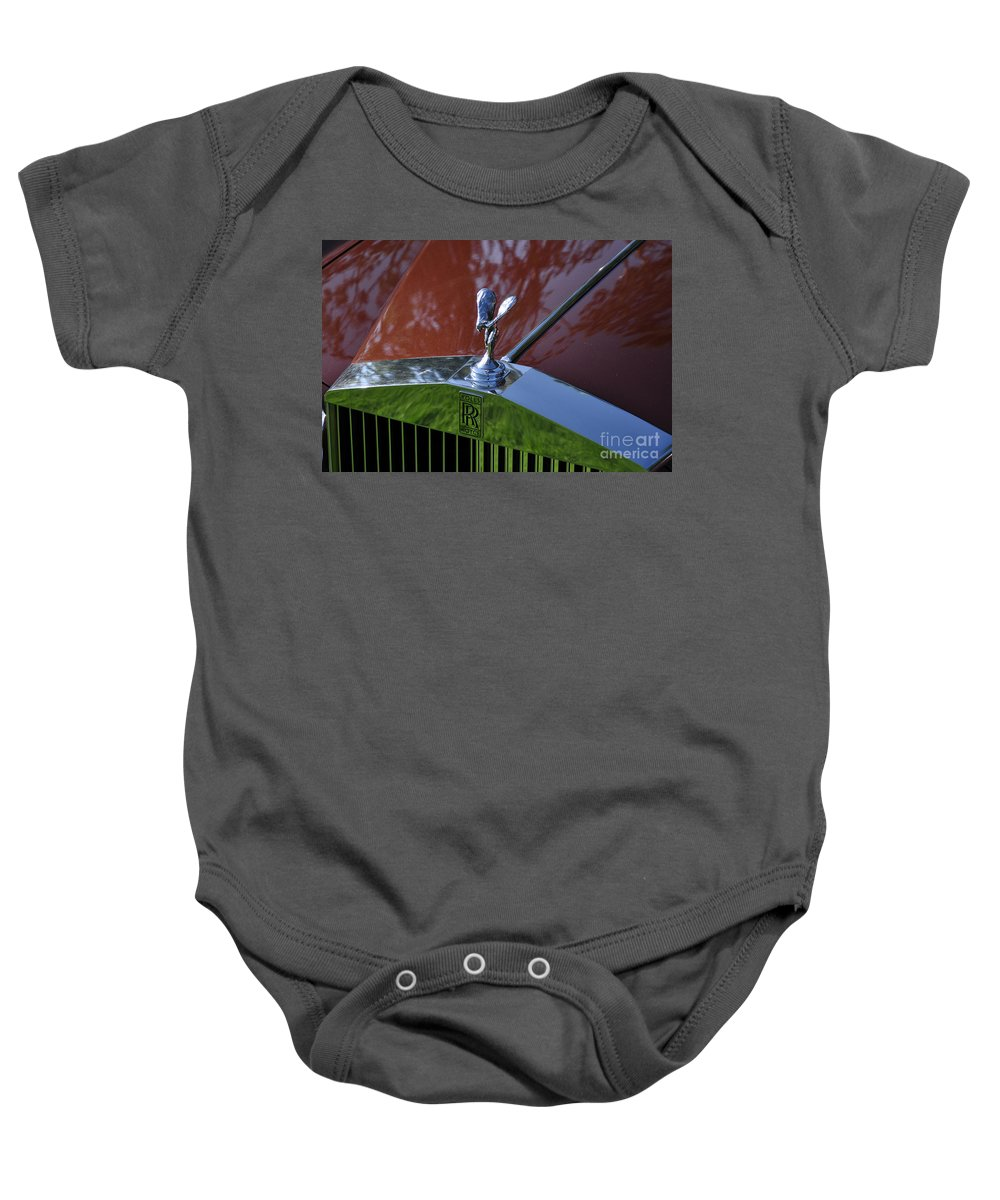 Clay Baby Onesie featuring the photograph The Rolls by Clayton Bruster