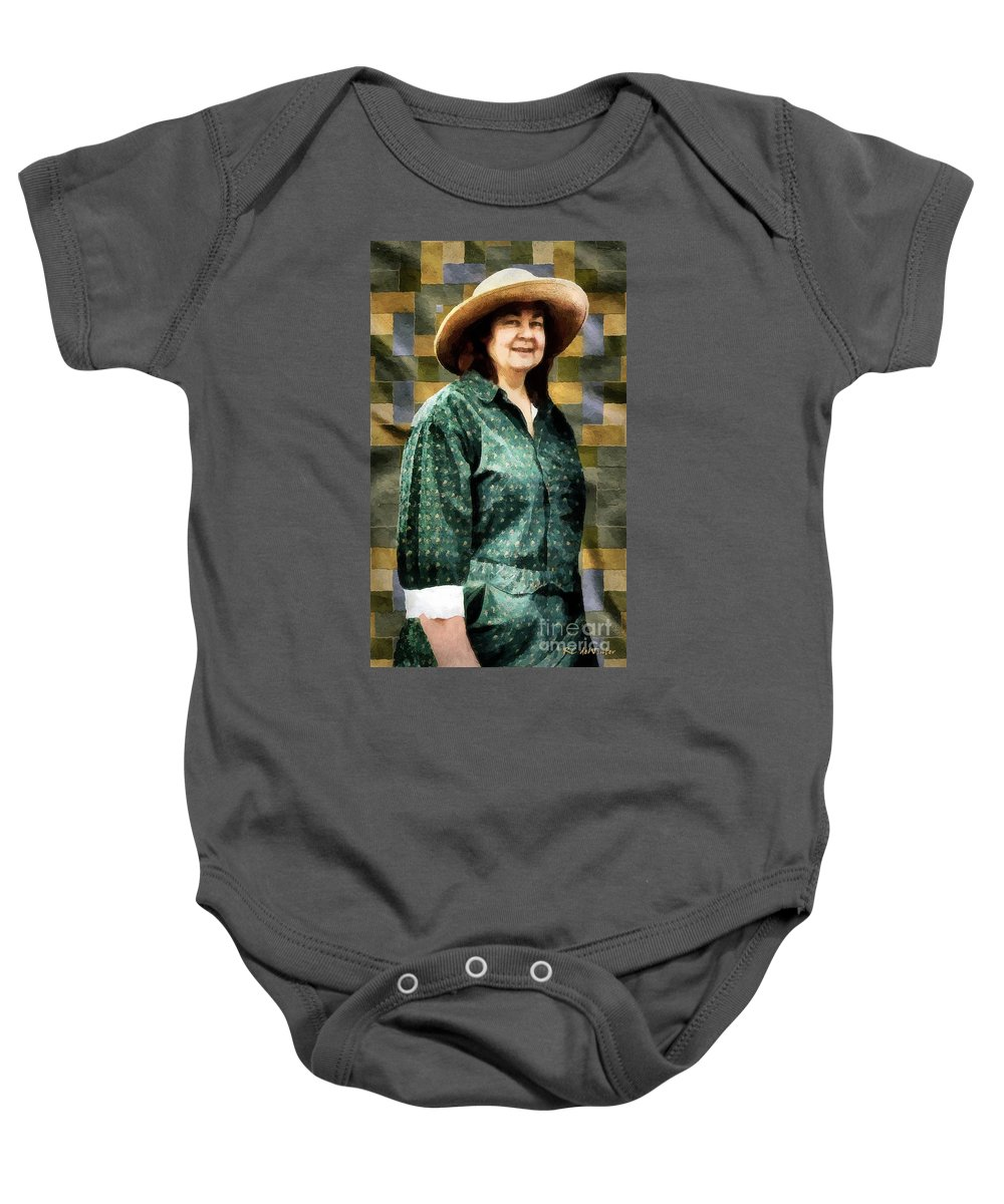 Artisan Baby Onesie featuring the painting The Rugmaker by RC DeWinter