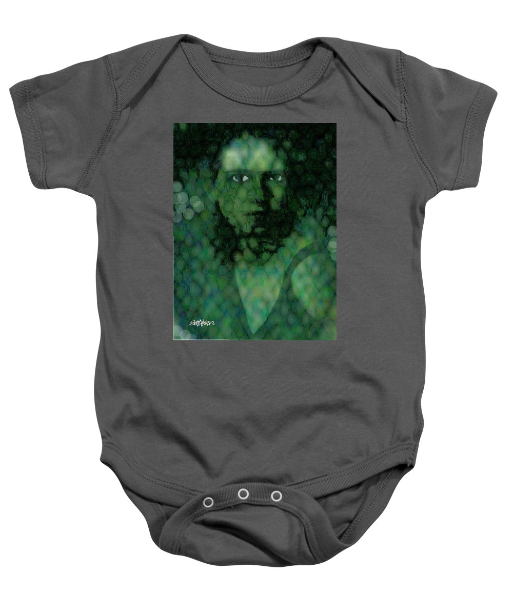 Bizarre Baby Onesie featuring the digital art The Snake Lady by Seth Weaver