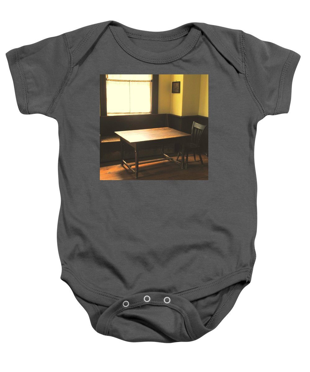 Pub Baby Onesie featuring the photograph The Snug by Ian MacDonald
