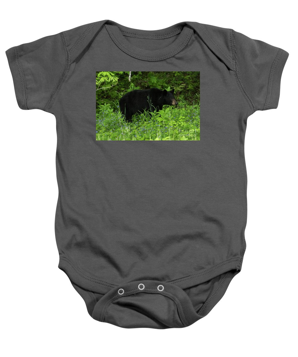 Bear Baby Onesie featuring the photograph The Standoff by Jo Ann Gregg