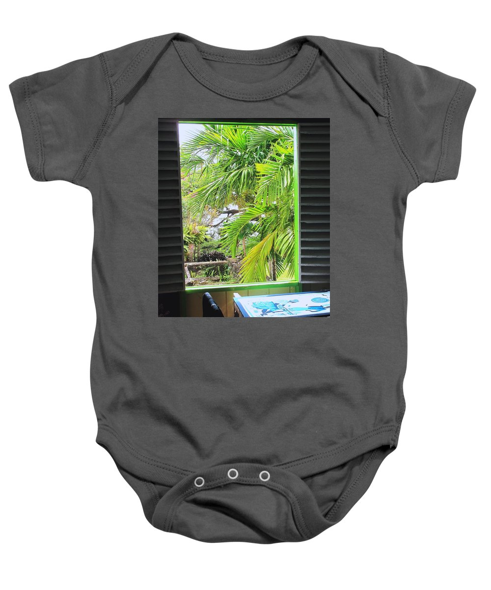 Window Baby Onesie featuring the photograph The Studio Window by Ian MacDonald