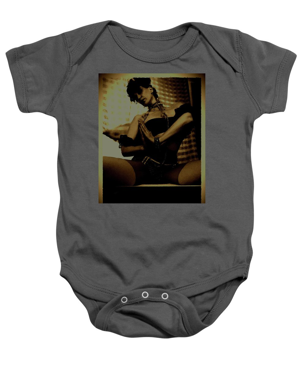 Art Photography Baby Onesie featuring the photograph The Swan by KiaRa