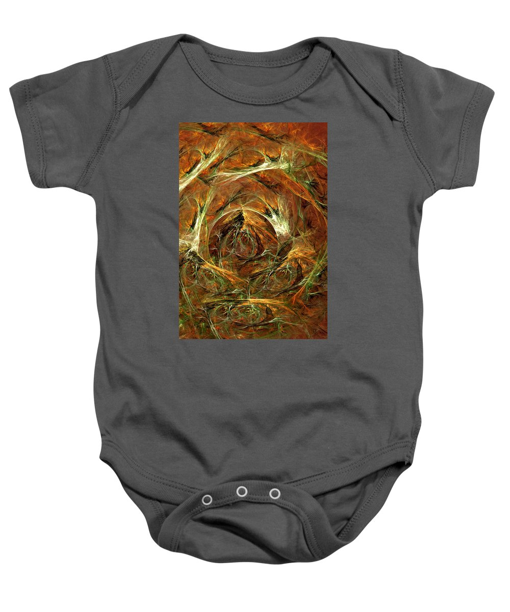Digital Painting Baby Onesie featuring the digital art The Tangled Webs We Weave by David Lane