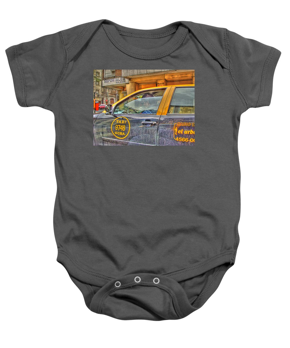 Taxi Baby Onesie featuring the photograph The Taxi by Francisco Colon