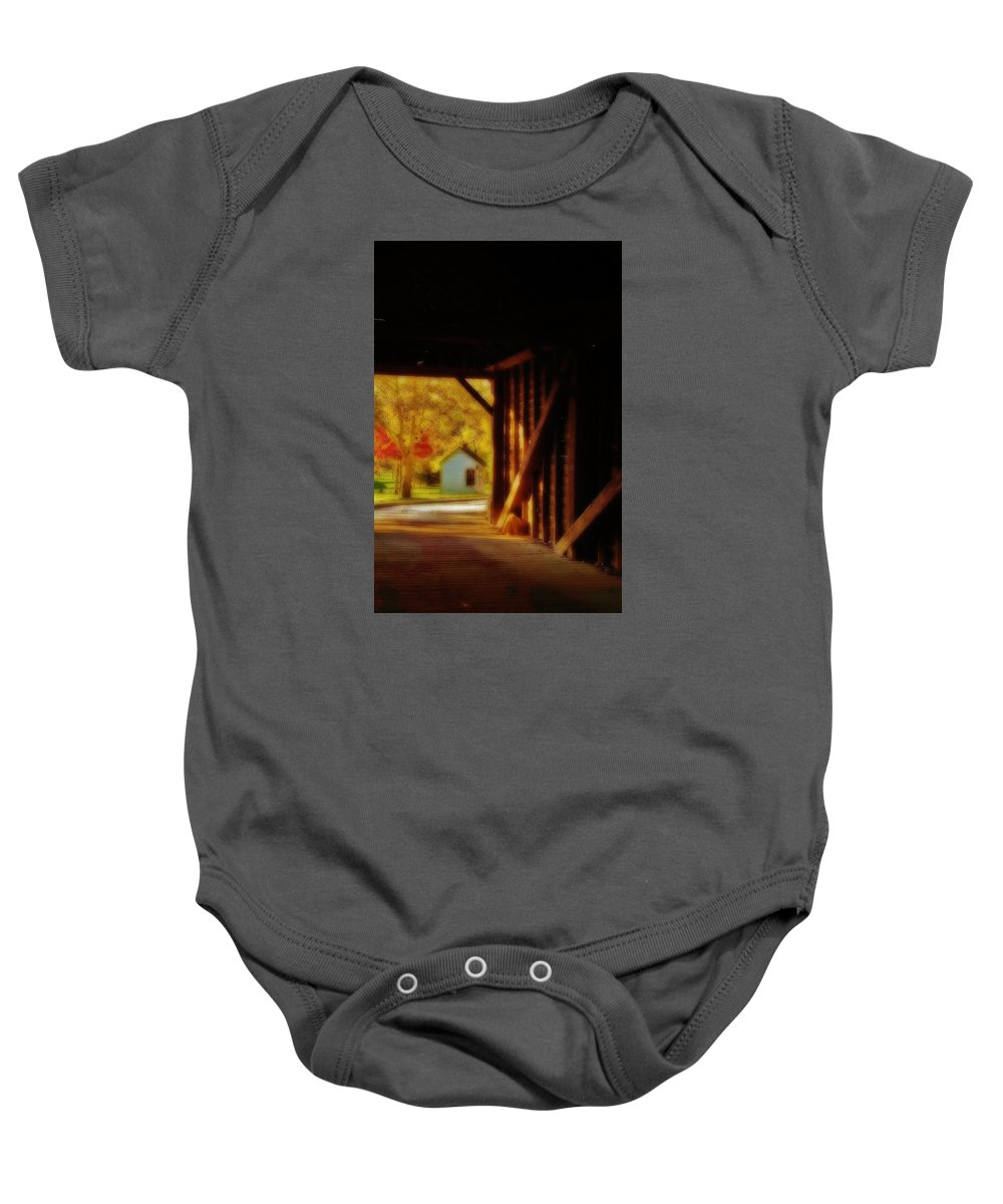 Baby Onesie featuring the photograph The Tollhouse by Daniel Thompson
