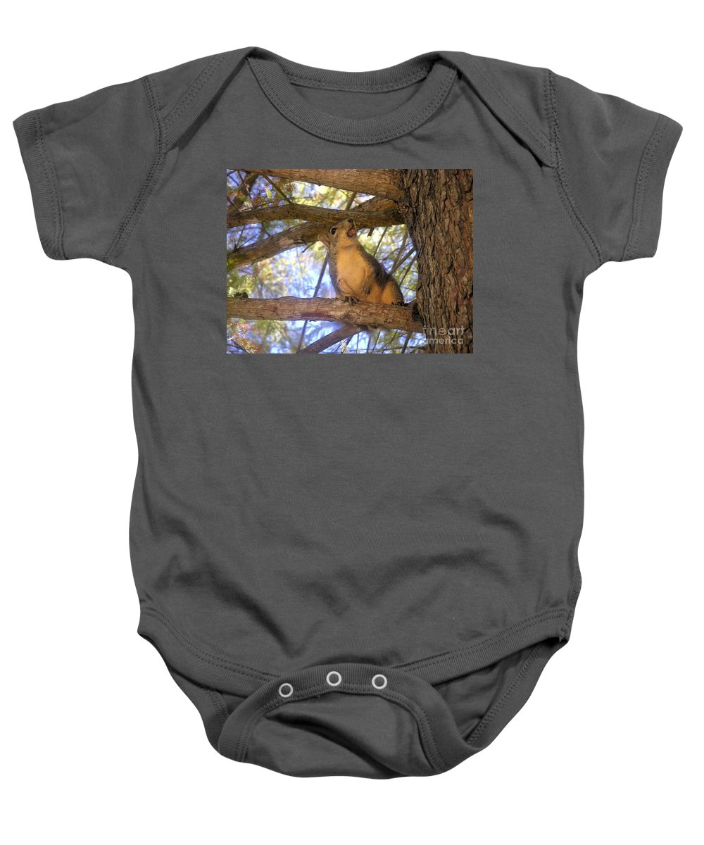 Nature Baby Onesie featuring the photograph The Winner by Lucyna A M Green