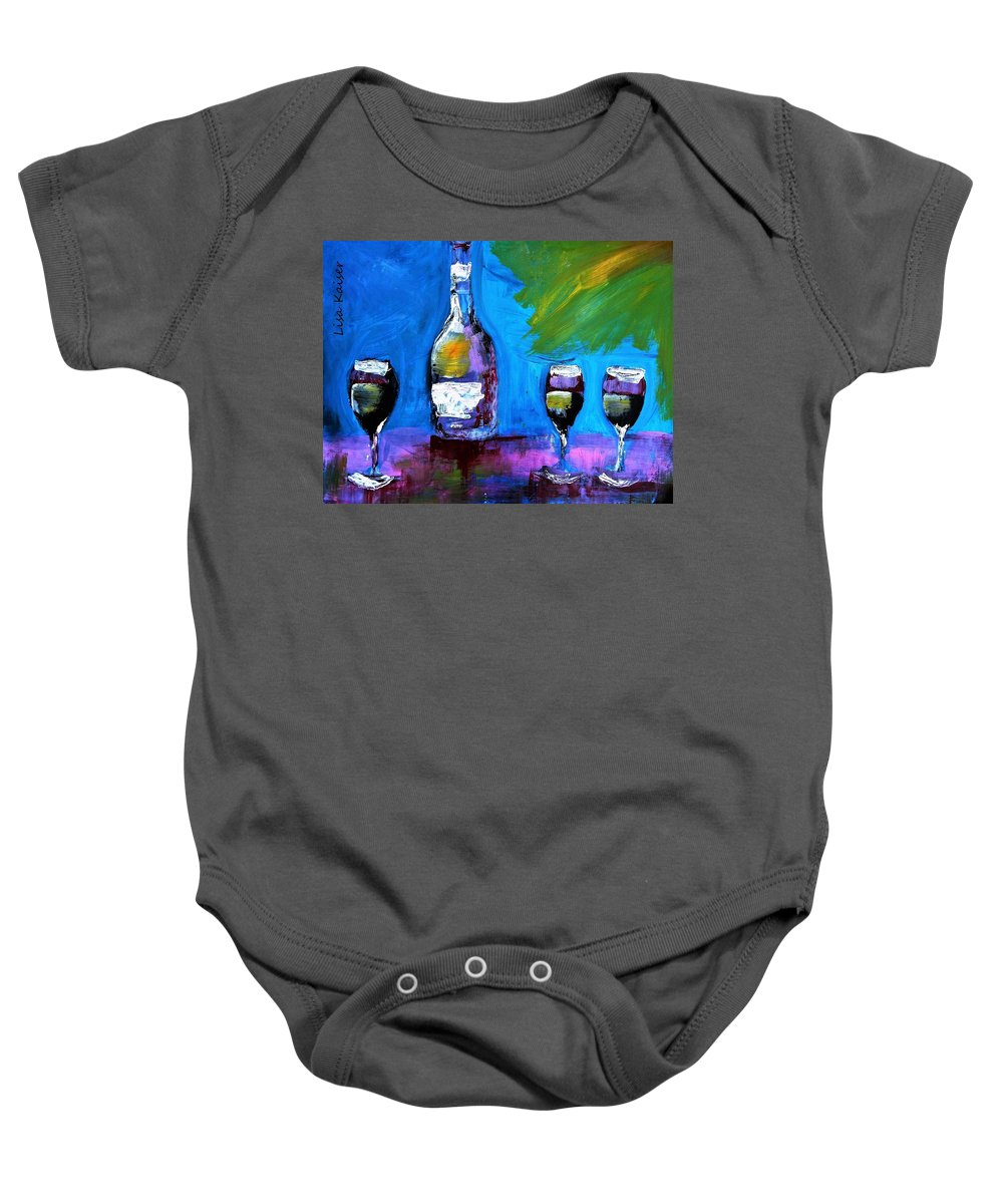 Wisecracker Baby Onesie featuring the painting The Wisecracker by Lisa Kaiser