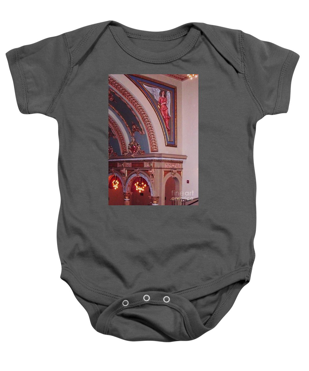 Theater Baby Onesie featuring the photograph Theater by Eric Schiabor