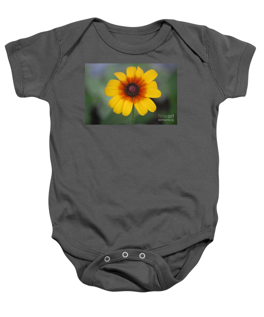 Landscape Baby Onesie featuring the photograph They Call Me Mellow Yellow. by David Lane