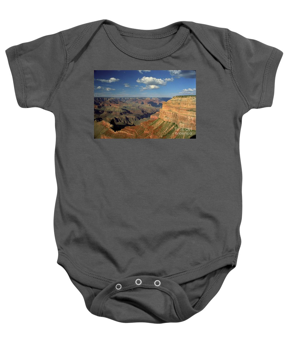 Grand Canyon Baby Onesie featuring the photograph This Is My Father's World by Kathy McClure