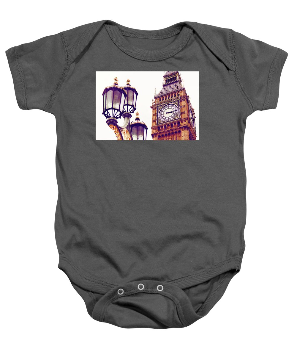 Big Ben Baby Onesie featuring the photograph This Time Tomorrow by Iryna Goodall
