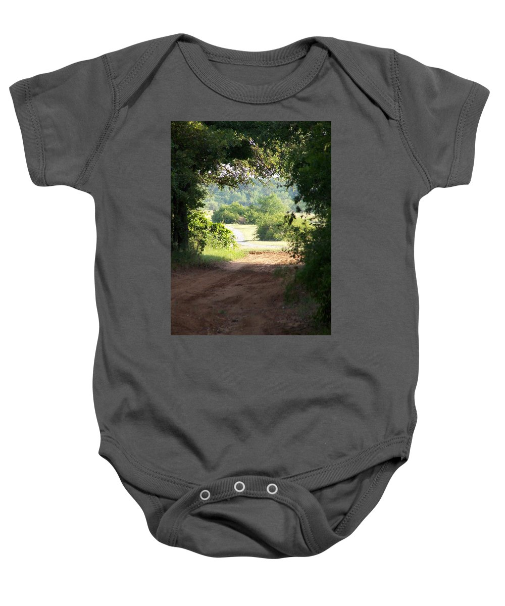 Woods Baby Onesie featuring the photograph Through The Woods by Gale Cochran-Smith