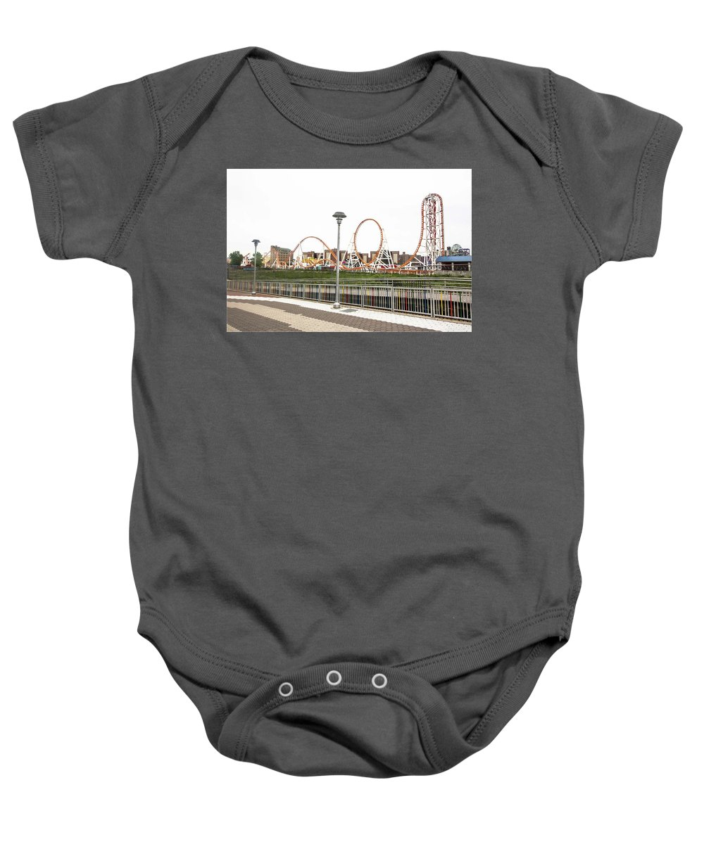 Thunderbolt Ride Baby Onesie featuring the photograph Thunderbolt by Mesha Thomas