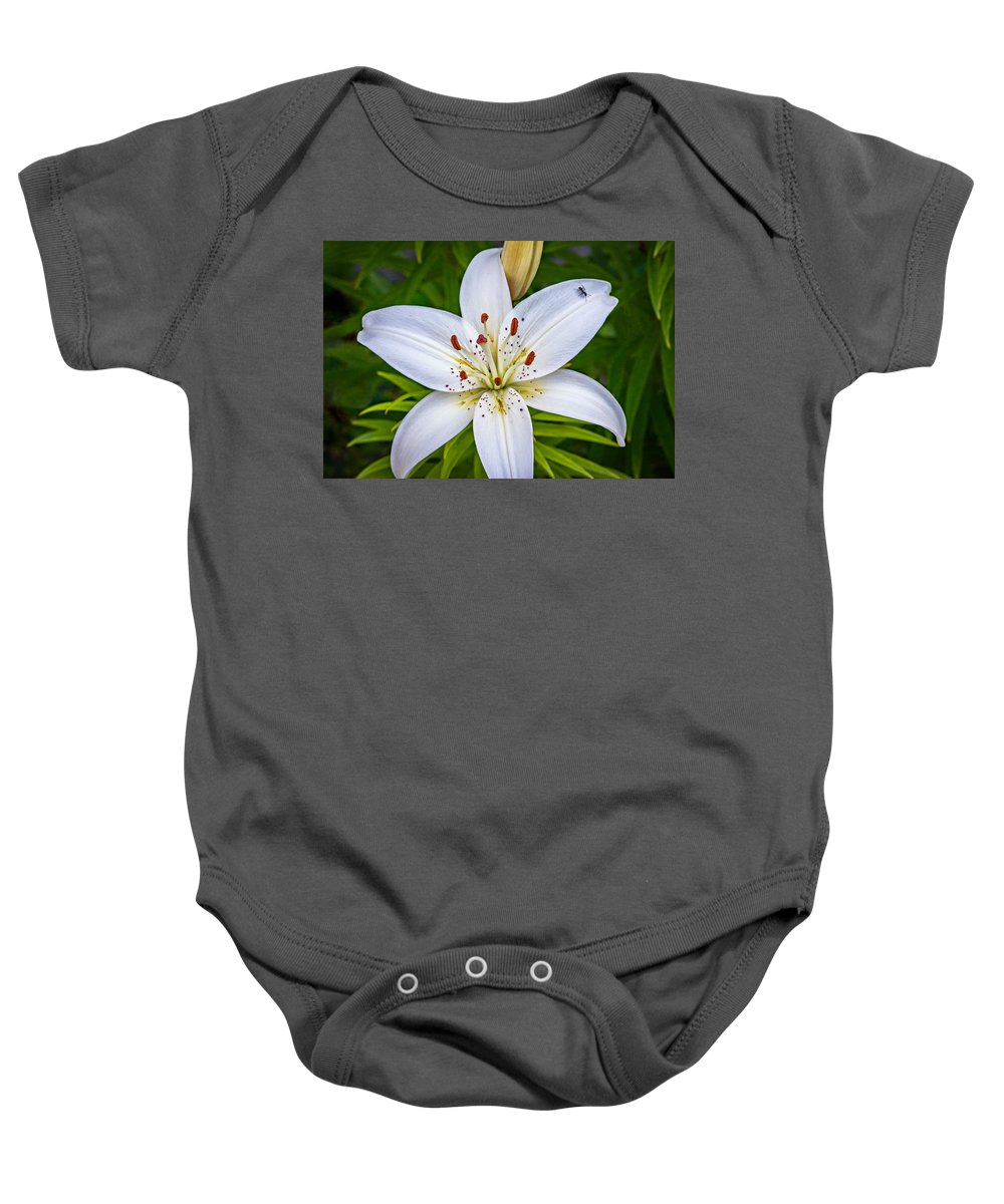 Flower Baby Onesie featuring the photograph Ticklish? by Steve Harrington