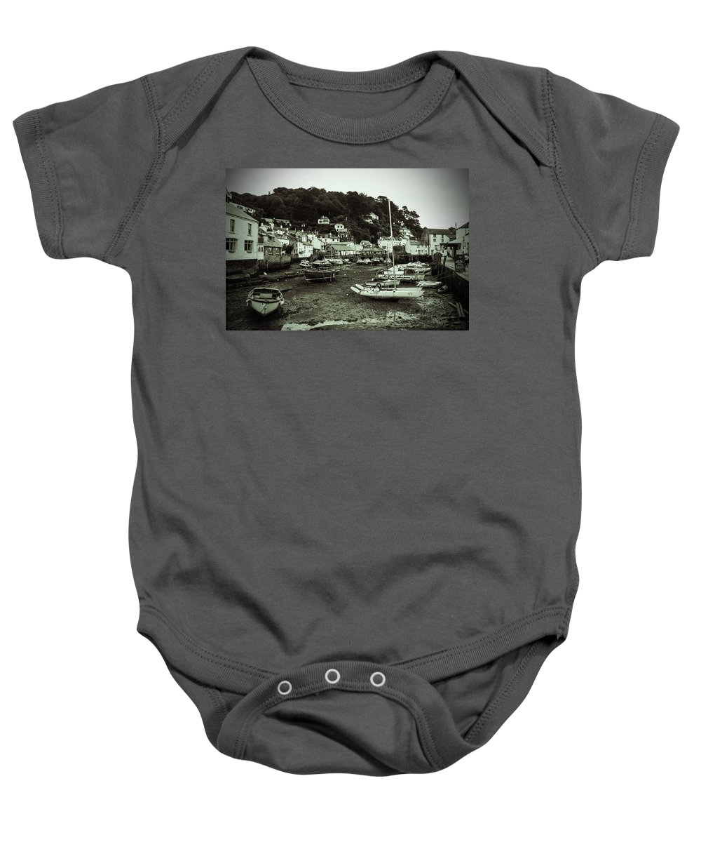 Boat Baby Onesie featuring the photograph Tide's Out by Ian Miller