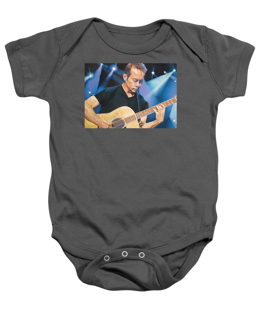 Tim Reynolds Baby Onesie featuring the drawing Tim Reynolds And Lights by Joshua Morton