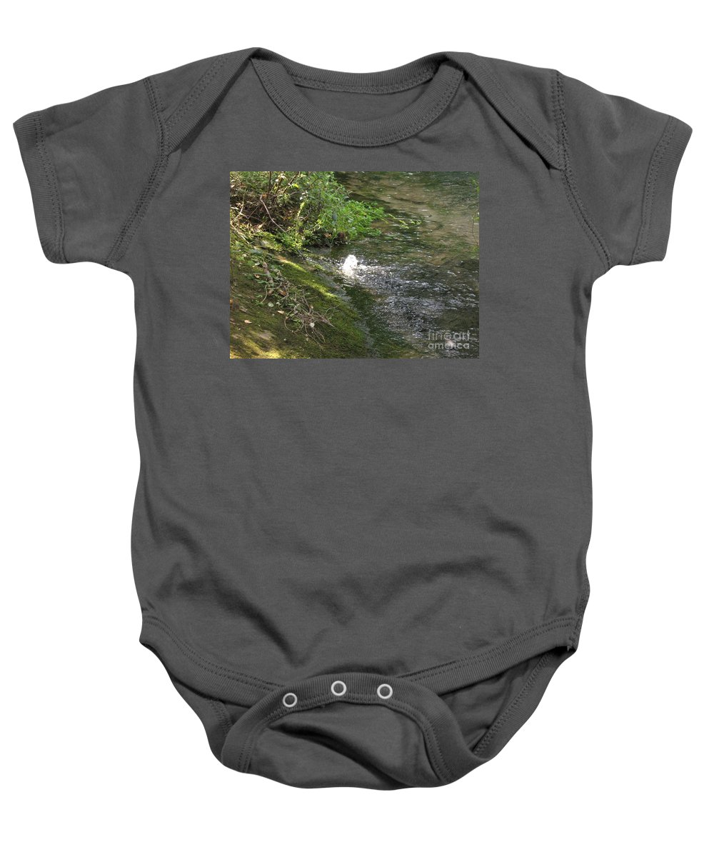 River Baby Onesie featuring the photograph Timava's Spring I by Dragica Micki Fortuna