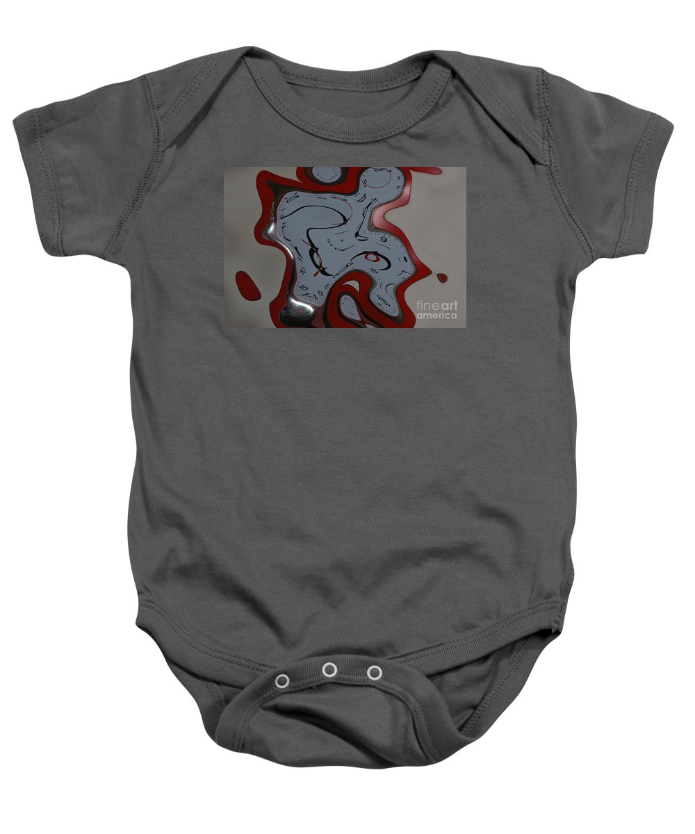Clock Baby Onesie featuring the photograph Time Seems To Melt Away by Donna Bentley