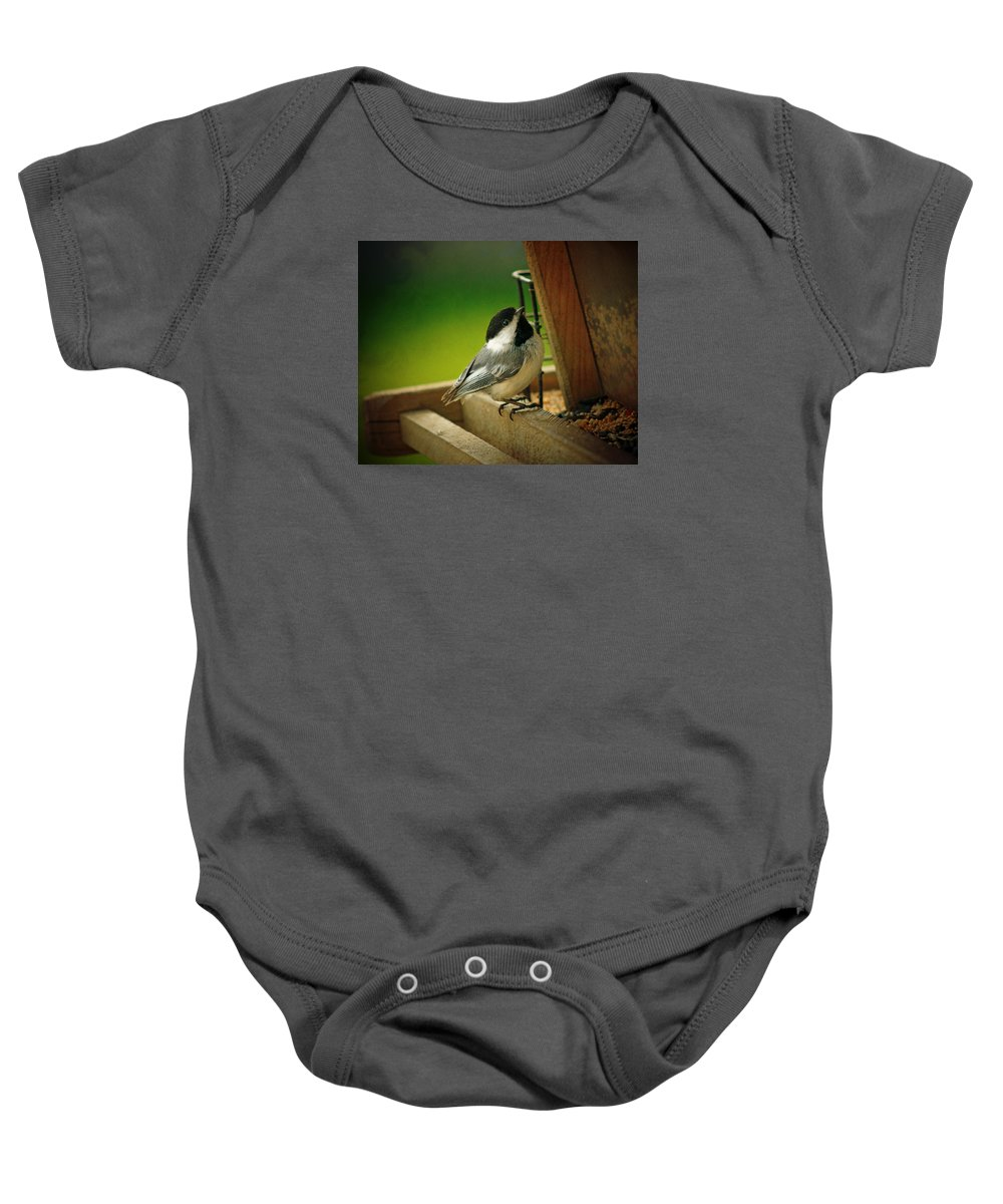 Time To Feast Baby Onesie featuring the photograph Time To Feast by Susan McMenamin