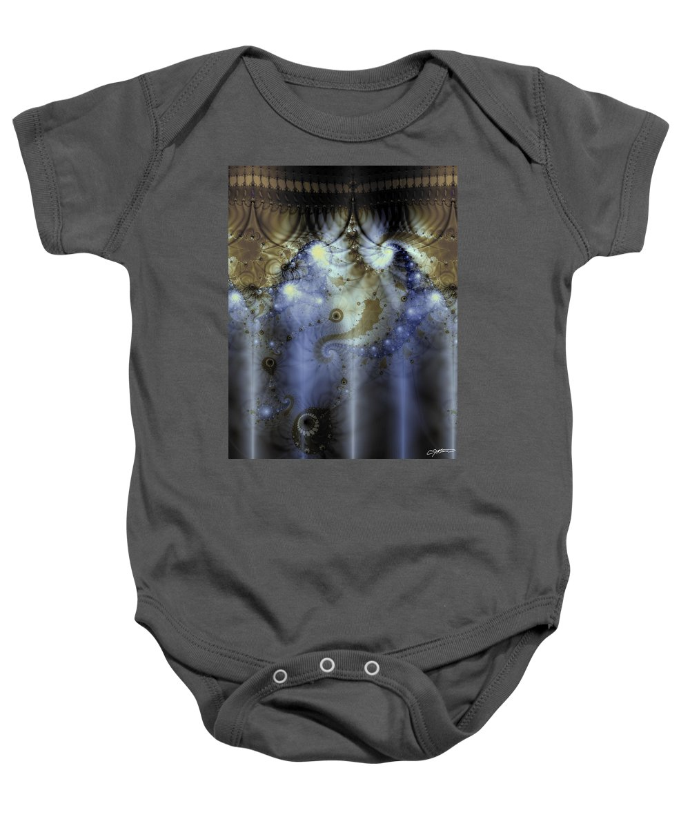 Blue Baby Onesie featuring the digital art Timeline Of History by Casey Kotas