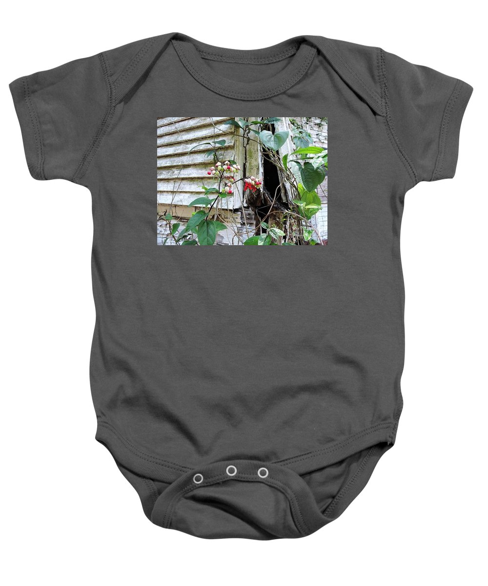 Neglected Baby Onesie featuring the photograph To Err Is Human by Beth Williams