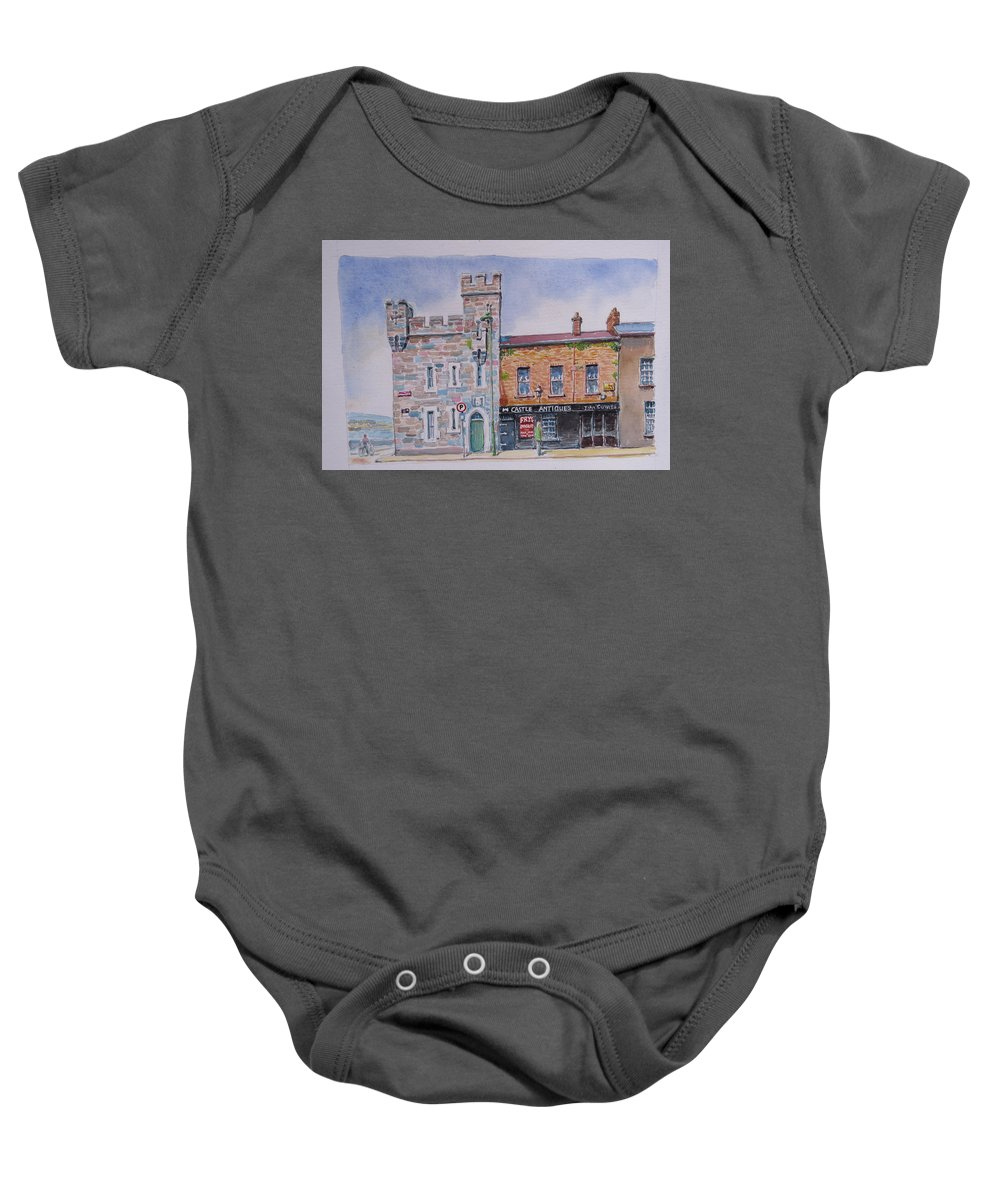 Castle Antiques Baby Onesie featuring the painting Toll House Limerick by Tomas OMaoldomhnaigh
