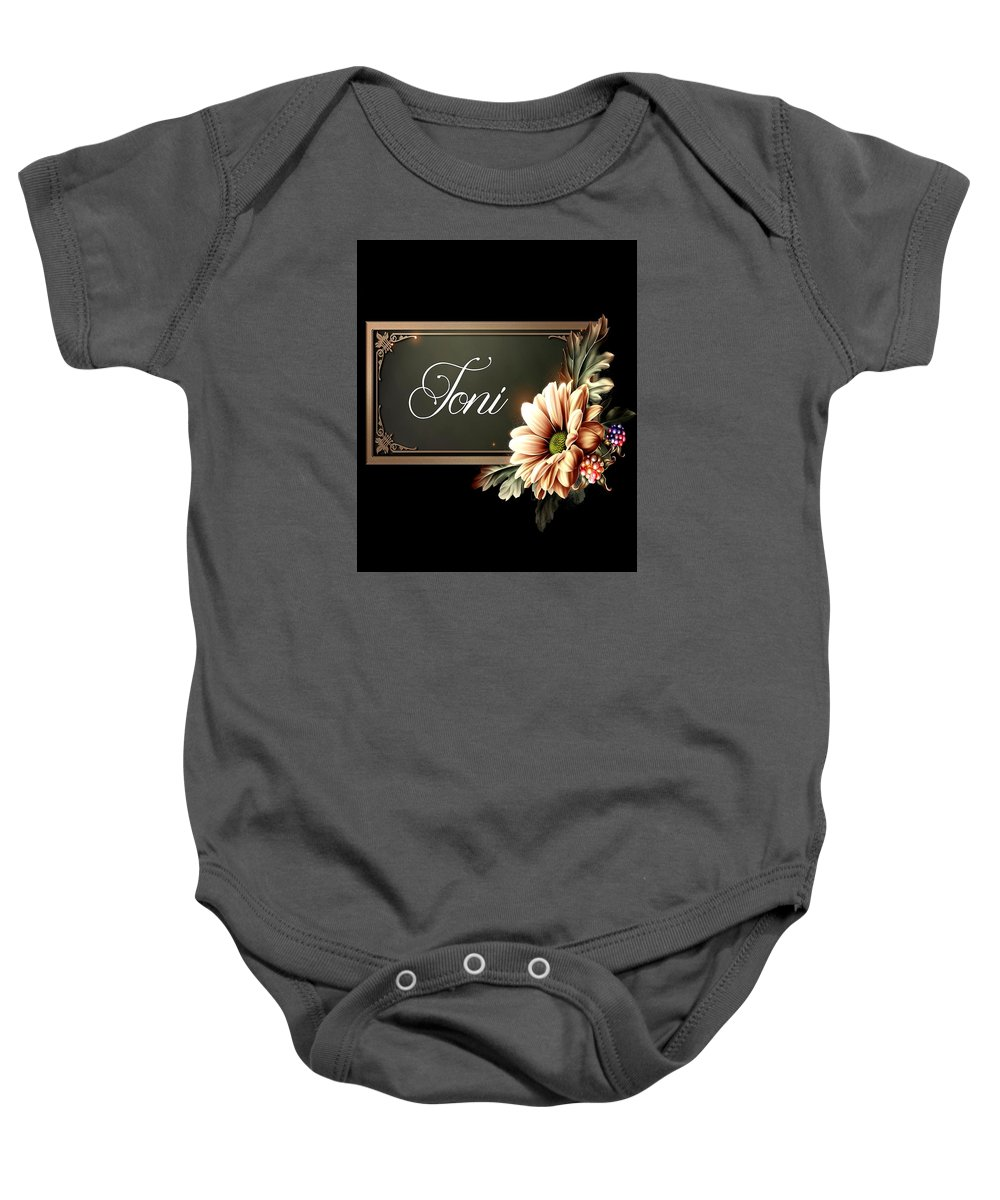 Toni Baby Onesie featuring the photograph Toni by G Berry