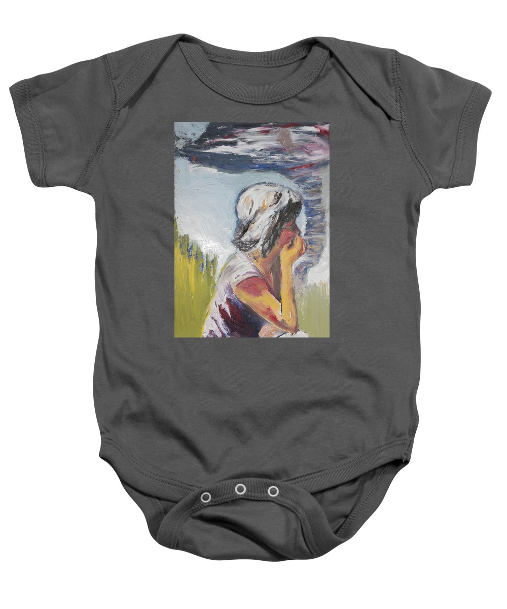 Tornado Baby Onesie featuring the painting Tornado Girl by Craig Newland