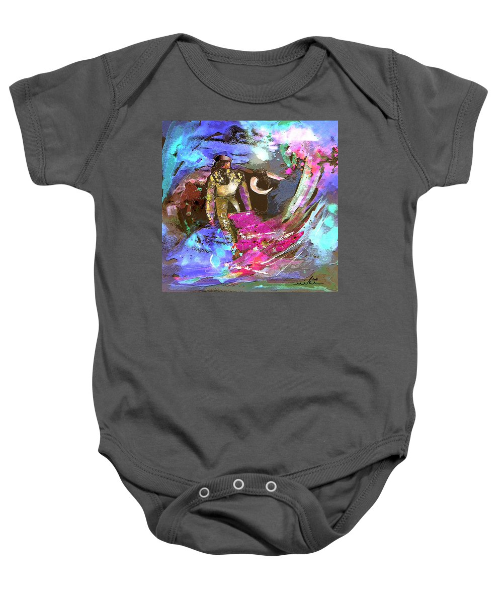 Animals Baby Onesie featuring the painting Toroscape 07 by Miki De Goodaboom