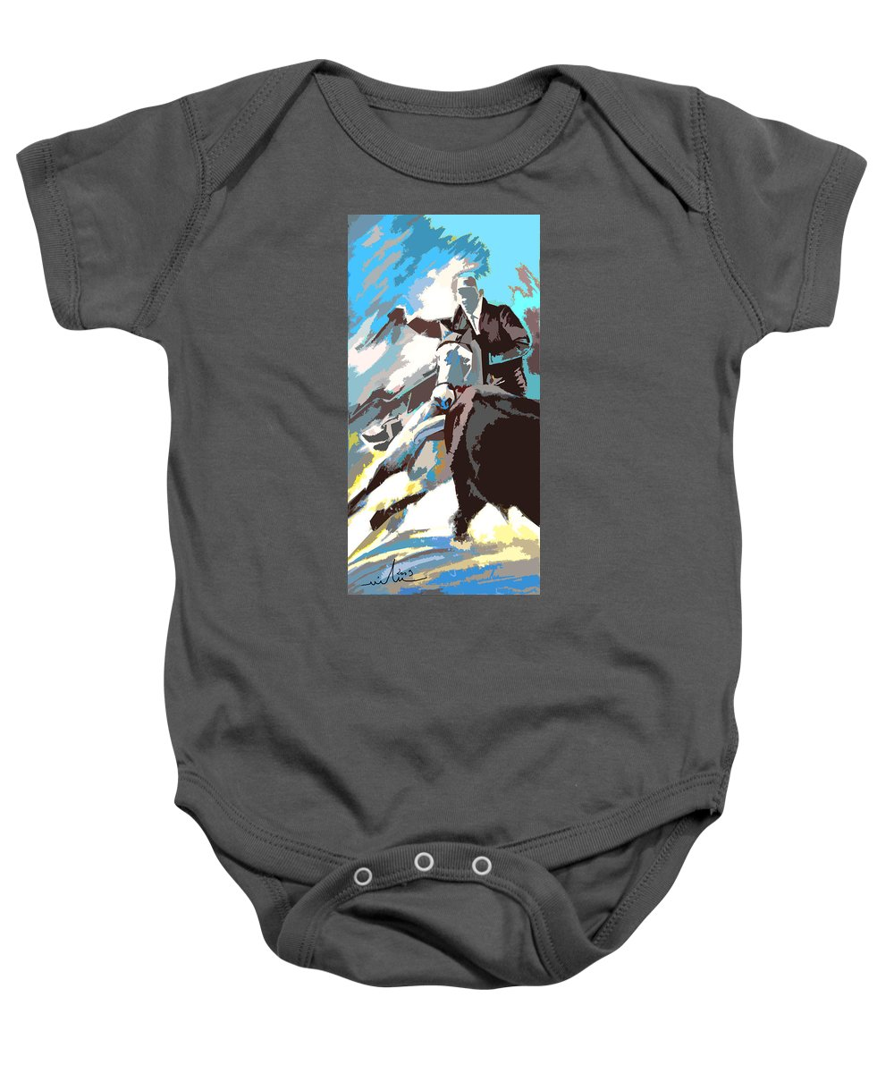 Animals Baby Onesie featuring the painting Toroscape 31 by Miki De Goodaboom