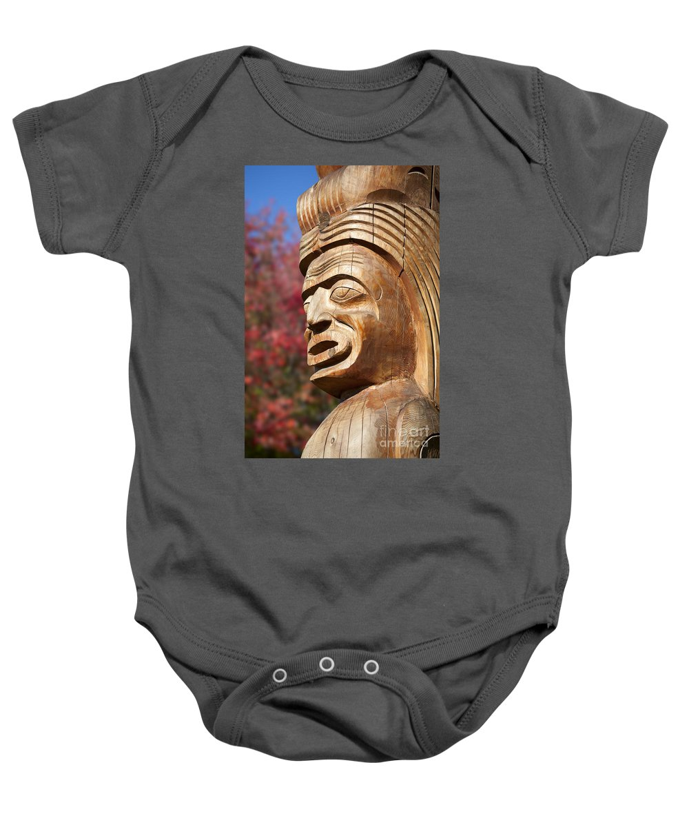 Totem Baby Onesie featuring the photograph Totem I by Chris Dutton
