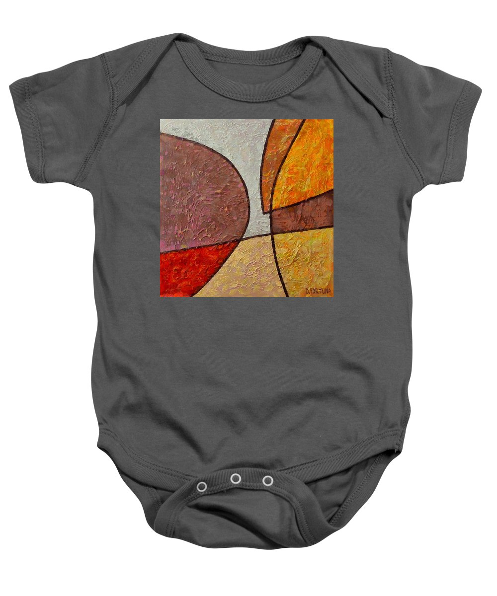 Mixed Media Baby Onesie featuring the mixed media Touch by Dragica Micki Fortuna