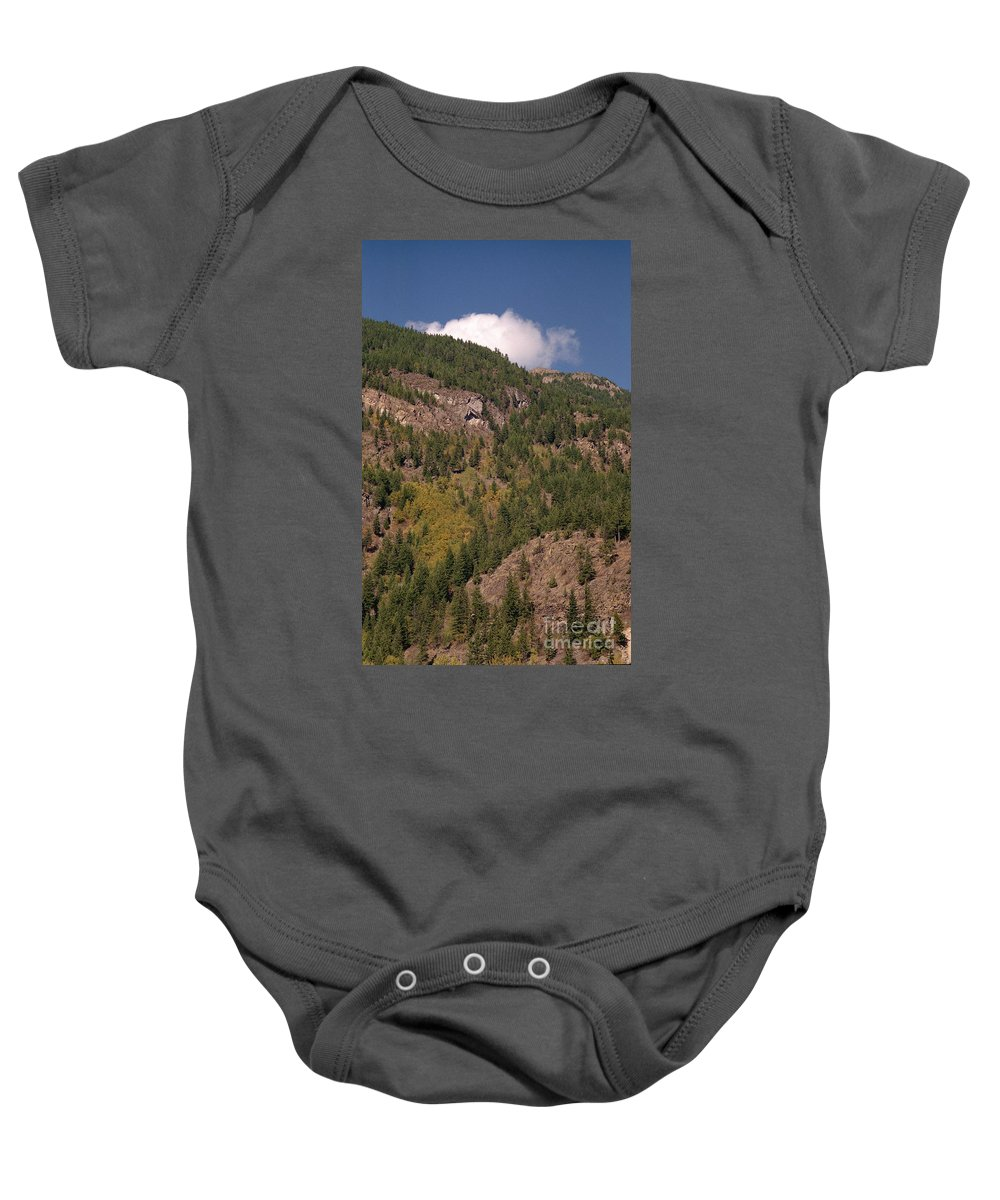 Mountains Baby Onesie featuring the photograph Touching The Clouds by Richard Rizzo