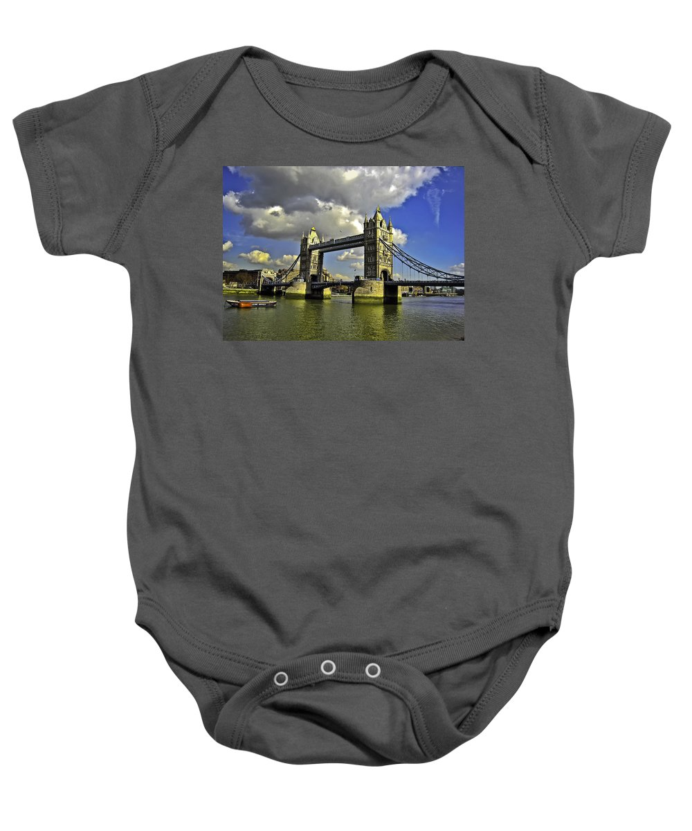 Bridge Baby Onesie featuring the photograph Tower Bridge I by Madeline Ellis