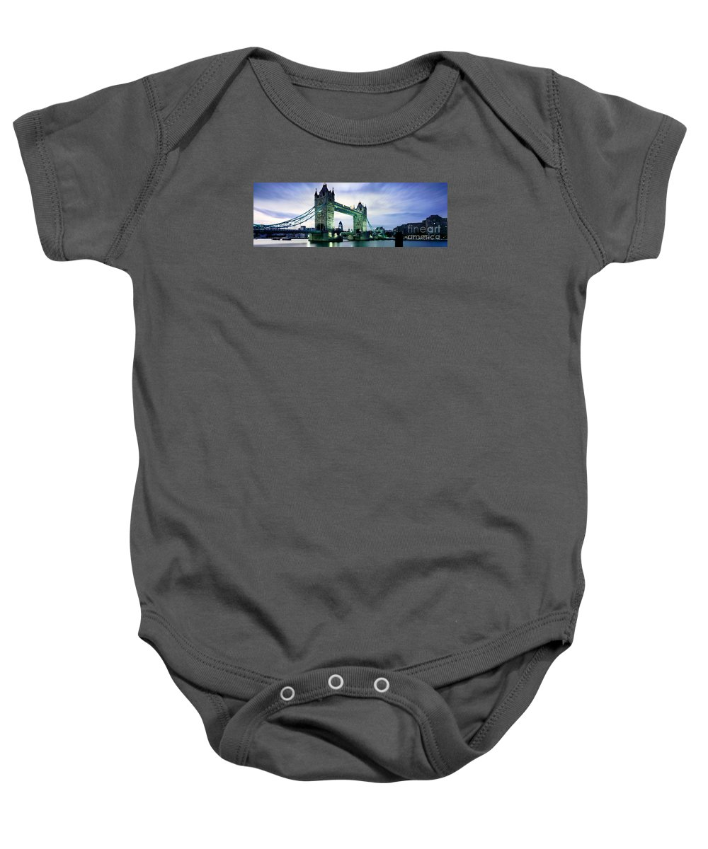 Tower Bridge Baby Onesie featuring the photograph Tower Bridge - London by Rod McLean
