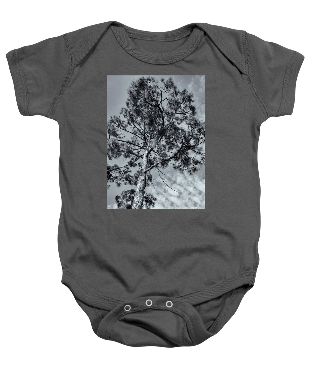 Tree Baby Onesie featuring the photograph Towering by Linda Lees